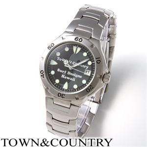 TOWN&COUNTRY(タウン&カントリー) メンズ ブレスウォッチ TC-1 - 拡大画像