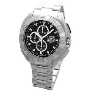 COGU(コグ) 腕時計 クロノグラフ スモールセコンド メンズウォッチ CG-CS20 BK ブラック - 拡大画像