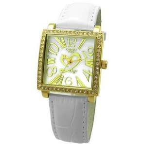 COGU(コグ) 腕時計 Ryo リョウ スクエアシリーズ ゴールドケース ホワイト RYO1206G-G1W レディースウォッチ - 拡大画像