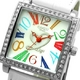 COGU(コグ) 腕時計 Ryo リョウ スクエアシリーズ カラフルインデックス ホワイト RYO1206S-C1W レディースウォッチ - 縮小画像2