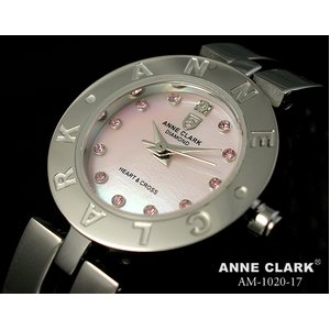 ANNE CLARK(アン・クラーク)レディース腕時計 AM1020-17(文字盤ピンク) 【愛らしいスイング・チャームがキラリ☆】 - 拡大画像