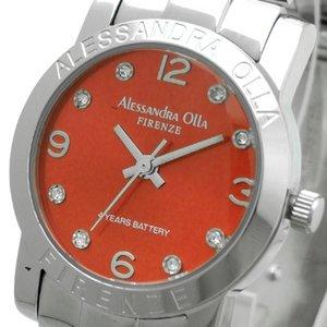 Alessandra Olla(アレサンドラオーラ)腕時計 ラウンドフェイス レディースウォッチ AO-713 レッド