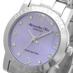 Alessandra Olla(アレサンドラオーラ)腕時計 ラウンドフェイス レディースウォッチ AO-714 パープル