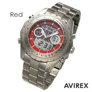 AVIREX デジアナ ブレスウォッチ AX-017M-4 レッド - 拡大画像