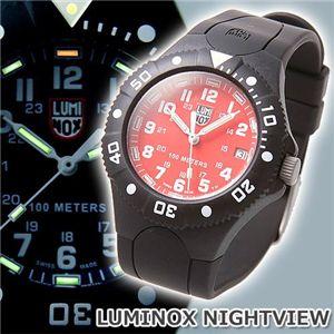 LUMINOX(ルミノックス) NIGHTVIEW ラバーウォッチ レッド - 拡大画像