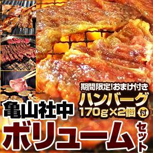 【2012年2月29日まで ハンバーグ2個おまけ付き】亀山社中 焼肉ボリュームセット 4kg - 拡大画像