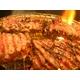 【旧タイプにつき9月30日で販売終了】亀山社中 焼肉 計2kgセット【華咲カルビ400g×2、華咲ハラミタレ漬け400g×3 、ハサミ1本】 - 縮小画像2