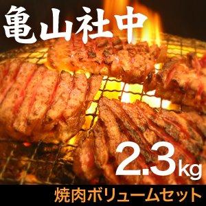 亀山社中 焼肉ボリュームセット 2.3kg - 拡大画像
