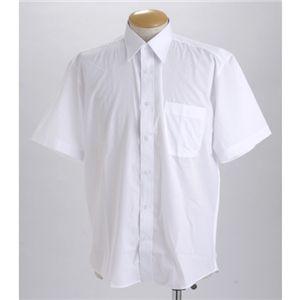 ブラック & ホワイト ワイシャツ2枚セット 半袖 L 【 2点お得セット 】  - 拡大画像