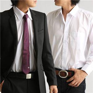百貨店取り扱いメーカー ホワイトワイシャツ ホワイト Mサイズ - 拡大画像
