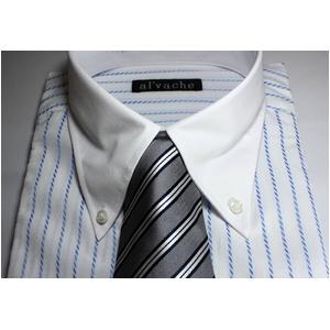 【福袋★柄お任せ】某百貨店仕様ワイシャツ5点&シルクネクタイ5点セット Mサイズ - 拡大画像