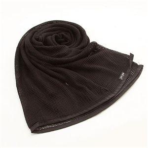 10カラー 大型メッシュマルチスカーフ ブラック - 拡大画像