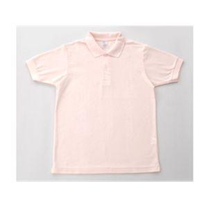 無地鹿の子ポロシャツ ソフトピンク L - 拡大画像