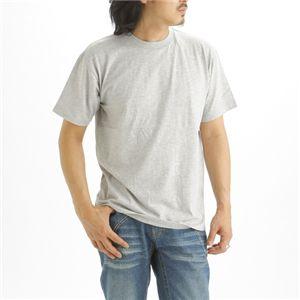 5枚セット Tシャツ 杢 グレー×5枚 XXL - 拡大画像