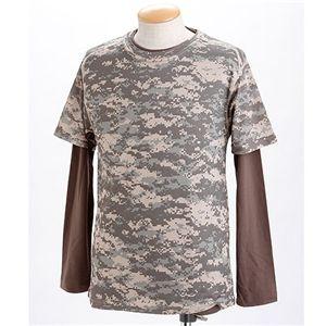 ドライクール ナイス カモフラ半袖 Tシャツ&ロング Tシャツ2枚 セット( 迷彩) ACU M - 拡大画像