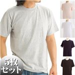 5枚セットTシャツ 5色セット Lサイズ