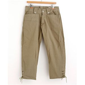 ベルギー軍 七分丈パンツ オリーブ 4サイズ - 拡大画像