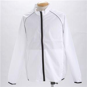 撥水透湿スポーツリフレクタージャケット  ホワイト XL - 拡大画像