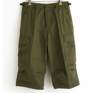 アメリカ軍 BDU クロップドカーゴパンツ /迷彩服パンツ 【 XSサイズ 】 オリーブ 【 レプリカ 】  - 拡大画像