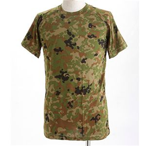 J. S.D.F.(自衛隊)採用吸汗速乾半袖 Tシャツ2枚 SET S 新 迷彩 - 拡大画像