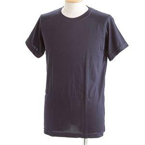 J. S.D.F.(自衛隊)採用吸汗速乾半袖 Tシャツ2枚 SET L ネイビー - 拡大画像