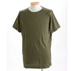 J. S.D.F.(自衛隊)採用吸汗速乾半袖 Tシャツ2枚 SET L オリーブ - 拡大画像