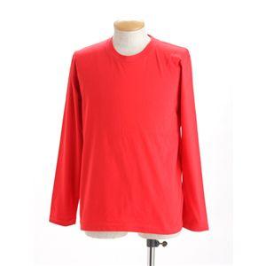 ユニセックス長袖 Tシャツ M レッド - 拡大画像