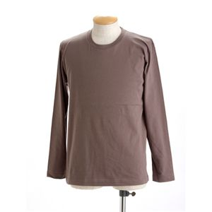 ユニセックス長袖 Tシャツ M チャコール - 拡大画像