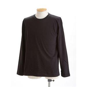 ユニセックス長袖 Tシャツ XXL ブラック - 拡大画像