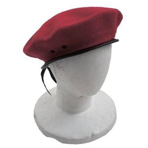 フランス軍ベレー帽 レプリカ レッド - 拡大画像