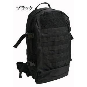 米軍モール対応防水布使用アサルトリュックサックレプリカ ブラック - 拡大画像