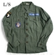 """アメリカ軍 OG-107 ファティーグシャツ/長袖 【 14 1/2 Sサイズ 】 柄/AIR FORCE """"B"""" 【 カスタム 】  - 縮小画像1"""
