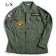 アメリカ軍 OG-107 ファティーグシャツ/長袖 【 14 1/2 Sサイズ 】 柄/NAVY 【 カスタム 】  - 縮小画像1