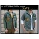 アメリカ軍 OG-107 ファティーグシャツ/長袖 【 14 1/2 Sサイズ 】 柄/NAVY 【 カスタム 】  - 縮小画像2