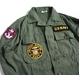 アメリカ軍 OG-107 ファティーグシャツ/長袖 【 14 1/2 Sサイズ 】 柄/NAVY 【 カスタム 】  - 縮小画像3