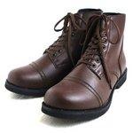 アメリカ軍 WW2 インファクトリーブーツ/靴 【 7W/26cm 】 セミロング 合成皮革(合皮) ブラウン 【 レプリカ 】