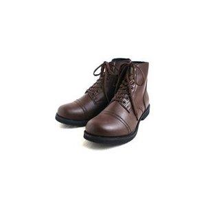 アメリカ軍 WW2 インファクトリーブーツ/靴 【 8W/27cm 】 セミロング 合成皮革(合皮) ブラウン 【 レプリカ 】  - 拡大画像