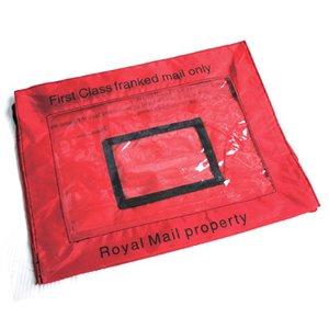 イギリス軍 放出 ロイヤルメールレターバッグ BE011NN レッド 【 デットストック 】 【 未使用 】  - 拡大画像