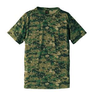 吸汗速乾ドライクールナイス カモフラージュ Tシャツ( 迷彩 Tシャツ) CB6589 ピクセル Lサイズ - 拡大画像