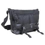 アメリカ軍 メッセンジャーバッグ/鞄 【 20 L 】 ポリエステルキャンバス地/ラバー 防水加工 B S124YN ブラック 【 レプリカ 】