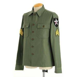ジョンレノンModel 米軍 OG-107 ファティーグシャツ 長袖 JS086YNJR 14 1/2サイズ(S)【レプリカ】 - 拡大画像