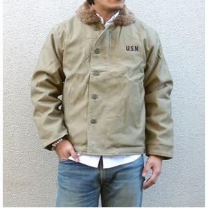 USタイプ 「N-1」 DECK ジャケット JJ105YN カーキ 40(XL)サイズ 【レプリカ】 - 拡大画像