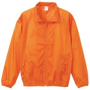 花粉対策フッ素撥水加工 ウインドブレーカー ブルゾン CB7064 オレンジ Sサイズ - 拡大画像