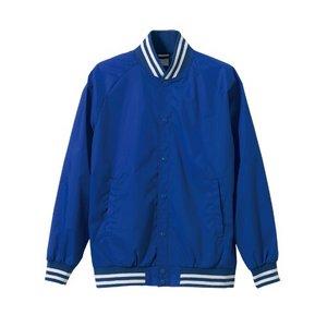 花粉対策フッ素撥水加工 スタジアムジャケット CB7054 ブルー/ホワイト M