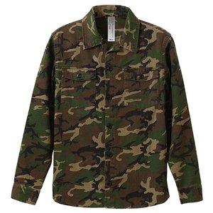 ファーティングロングスリーブシャツ CB1277 ウッドランド カモ( 迷彩) Mサイズ - 拡大画像