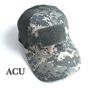 吸汗速乾 米軍 タイプタクティカル最新鋭 カモメッシュキャップ( 迷彩帽子) HC044YN ACU(UCP) 【 レプリカ 】  - 拡大画像