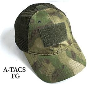 吸汗速乾 米軍 タイプタクティカル最新鋭 カモメッシュキャップ( 迷彩帽子) HC044YN A-TAC S(FG) 【 レプリカ 】  - 拡大画像