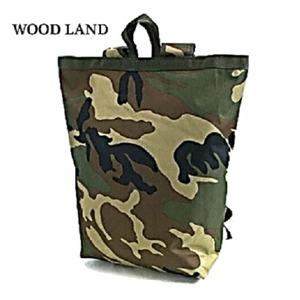 水に強い防水加工 布使用リュックサックなるトートバッグ BR066YN ウッドランド - 拡大画像