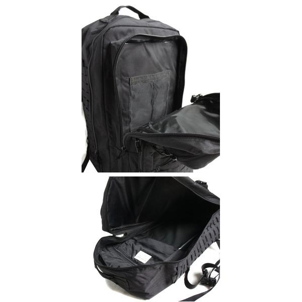 水に強い防水加工布使用USタイプアサルトリュック 70リッター BR065YN ブラック【レプリカ】