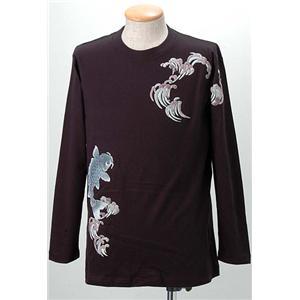 語れる立体和柄ロングTシャツ S-1300/登鯉 L - 拡大画像